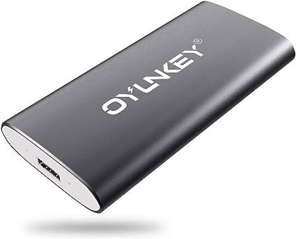OYUNKEY 512GB Disco Duro Externo SSD Portátil de Tipo-C/USB para ...