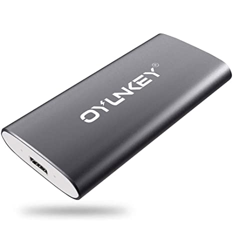 OYUNKEY 512GB Disco Duro Externo SSD Portátil de Tipo-C/USB para PC Ordenador