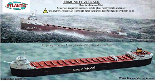 Edmund Fitzgerald Great Lakes Freighter Boat Paper Model Atlantis Toy and Hobby