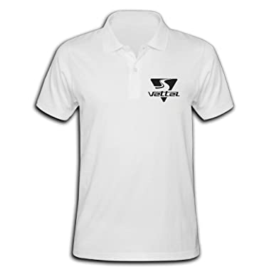 atm3haoji Hombres de la F1 Sebastian Vettel Logo Polo camisa ...