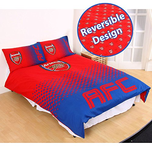 Arsenal FC Fade Double/US Full Duvet Cover and Pillowcase Set Arsenal Set
