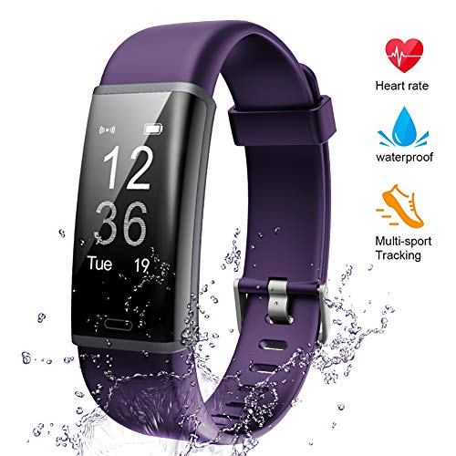 Lintelek Fitness Tracker, Heart Rate Monitor Activity Tracker Sleep Monitor, Measuring Calories Step Counter IP67 Waterproof Smart Watch Wearable Device for Men Women Kid Android iOS - Simple Heart Monitor Rate