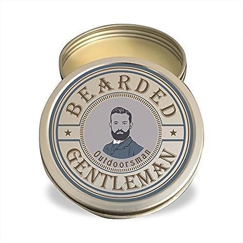 Beard Balm by Bearded Gentleman: Outdoorsman (Cedar / Fir / Pine)  All Natural Beard Conditioning Balm   2 - 2 Oz Pipe Tobacco