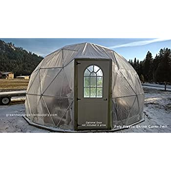 Amazon.com : GREENHOUSE GEODESIC DOME 18 FT. 3V With Marine Poly ...