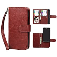 Case for Samsung Note 4, xhorizon TM SR Premium Leather Folio Case [Wallet Function][Magnetic Detachable] Fashion Wristlet Book Style Multiple Card Slots Cash Pocket for Samsung Galaxy Note 4