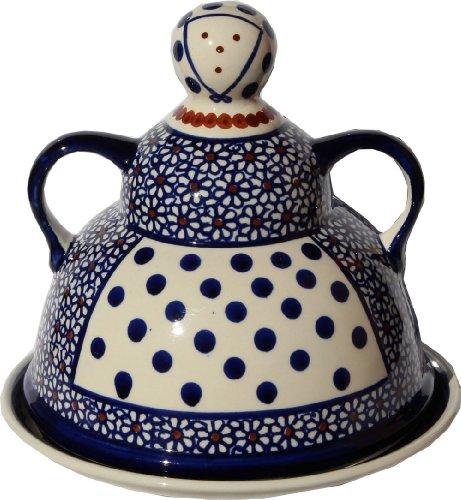 (Polish Pottery Cheese Lady From Zaklady Ceramiczne Boleslawiec #847-120, Diameter: 6.85
