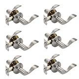 Dynasty Hardware HER-82-US15 Heritage Lever Passage Set, Satin Nickel, Contractor Pack (6 Pack)
