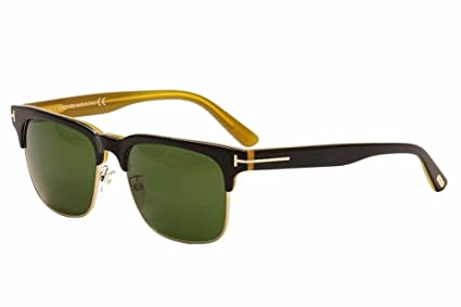 3942d6c753f8 Tom Ford TF386 05N Black Yellow Louis Square Sunglasses Lens Category 3 Size