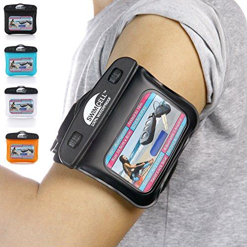 Wasserfeste Schützhülle für deine Schlüssel, MP3 Player, Geld, Ausweis. Strapazierfähiges, verstellbares Armband und Schlüsselband mit BONUS Silikon Schlüssel-Cover. Zertifiziert IPX8. Getestet zu10m.