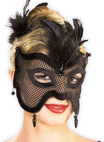 FGFK Halloween Costumes by HCFS Mystery Lady Mesh Mask]()