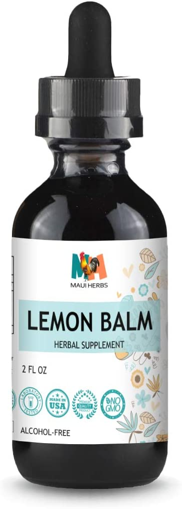 Lemon Balm Tincture 2 FL OZ Alcohol-Free Liquid Extract, Organic Lemon Balm Leaf Melissa officinalis