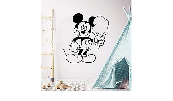Mickey Minnie Mouse Wall Art Decal Sticker Mickey Tatuajes de ...