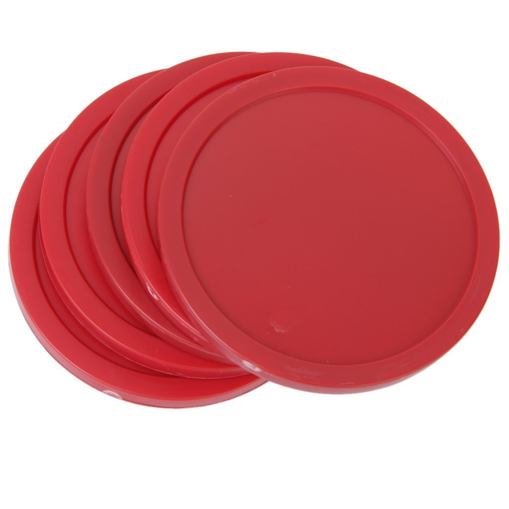 Ma-on 4palets ronds pour Table de Air Hockey Rouge