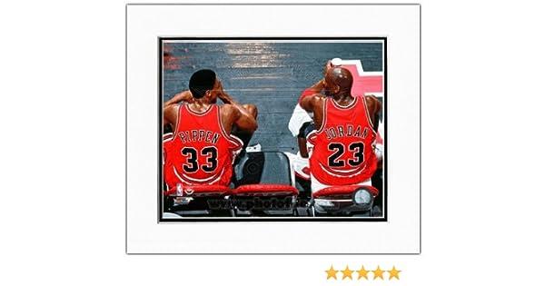 356f23621a337 Michael Jordan & Scottie Pippen Chicago Bulls NBA Action Photo Double  Matted 11x14