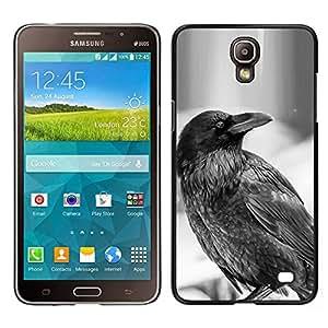 EJOY---Cubierta de la caja de protección la piel dura para el / Samsung Galaxy Mega 2 / --Cuervo B & W