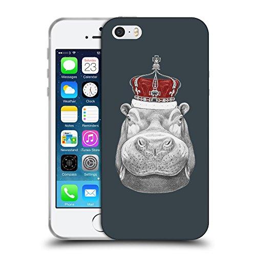GoGoMobile Coque de Protection TPU Silicone Case pour // Q05260606 hippopotame Arsenic // Apple iPhone 5 5S 5G SE