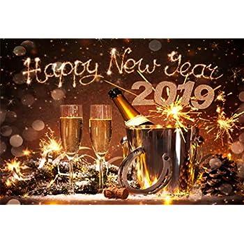 Amazon.com : LFEEY 6x4ft Happy New Year 2019 Background ...