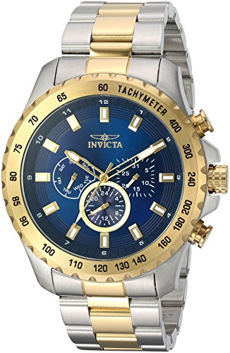 Invicta Men's Speedway Quartz Watch with Stainless-Steel Strap, Two Tone, 24 (Model: 24214)
