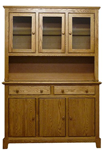 Forest Designs 60w Shaker Buffet & Hutch 72w Base Honey (Honey Oak Buffet)