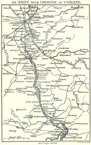 Amazon.com: GERMANY. Rhine from Cologne to Coblenz - 1910 ...
