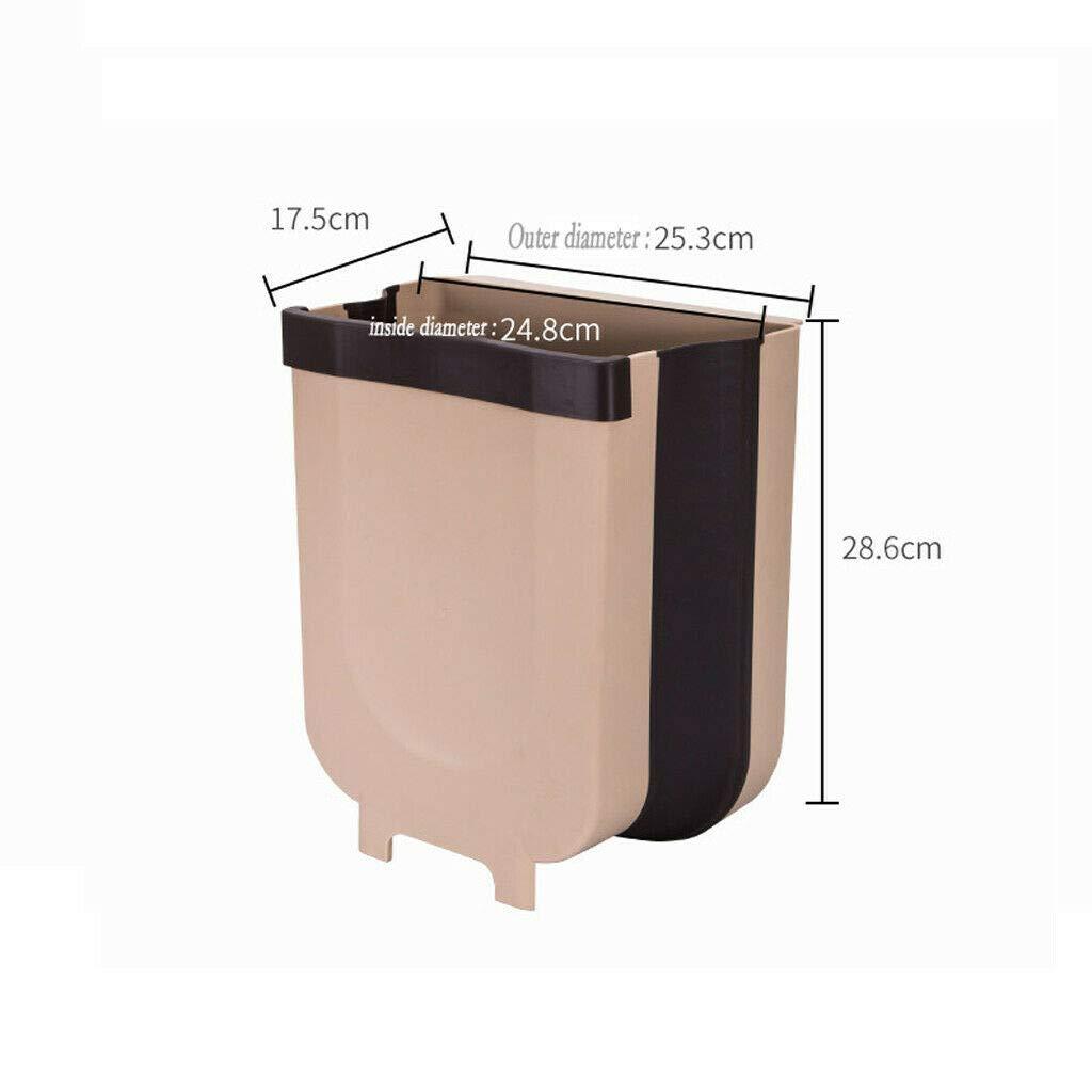 AKLWQ Contenedor de Basura Plegable Creativo montado en la Pared Contenedor de Cocina Puede Contenedor de Basura Cubo de Basura Reciclaje Blanco, 1 Piezas