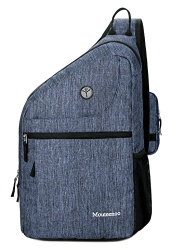 - Sling Backpack for Men and Women Bag - Mouteenoo (Blue)