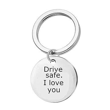 Amazon com: Boyfriend Gifts Drive Safe Keychain I LOVE YOU