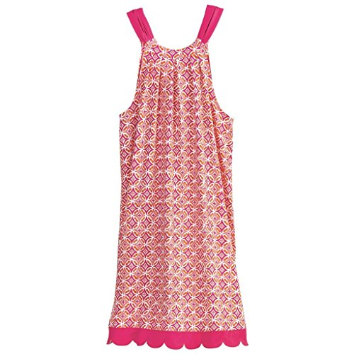 Mud Pie Womens Natalie Bow Tie Dress (Large, Pink Medallion) (Medallion Bow Tie)