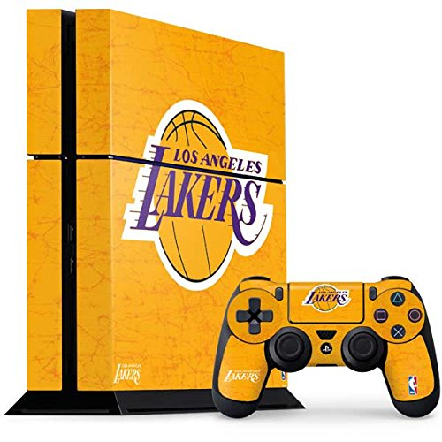 Los Angeles Lakers PS4 Console and Controller Bundle Skin - Los Angeles Lakers Gold Primary Logo | NBA X Skinit Skin by Skinit