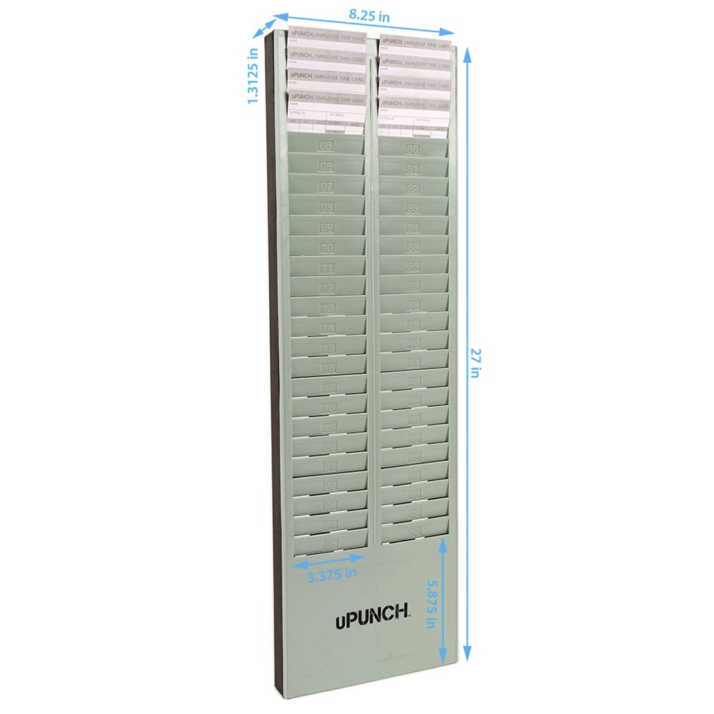 uPunch Time Card Rack with 50 Slots by uAccept