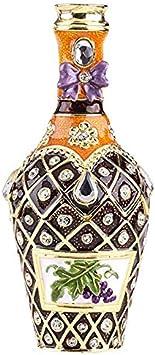 Caja para botellas, estilo Faberge, decorada con cristales de Swarovski, decoración única para el hogar