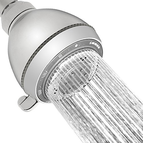 """Shower Head, YAWALL 4""""Rainfall Bath Shower Head with High Pressure Stainless Steel & High Polish Chrome, Massaging Shower Heads for Kids, Teens, Adults and Pets Rain Style"""