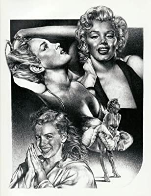 Marilyn Monroe Collage Original Sketch Prints - Poster Size - Black & White - Features Marilyn Monroe Collage. Print of Highly-Detailed, Handmade Drawing By Artist Mike Duran
