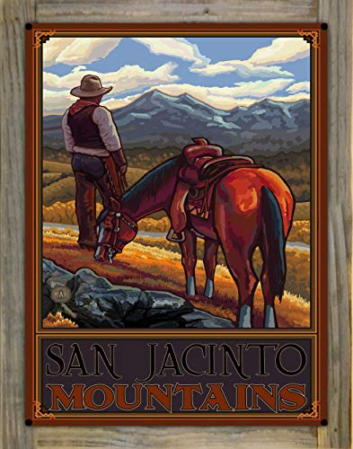 Northwest Art Mall San Jacinto Mountains Metal Print on Reclaimed Barn Wood by Paul A. Lanquist (18