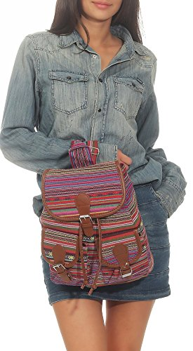 many 2 Schoolbag Pattern Multifunction Pink Backpack Womens R800 Handbag Daypack malito vOXaqx