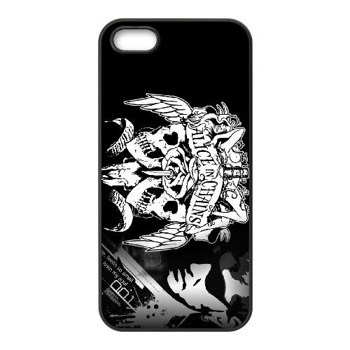 Alice In Chains 006 coque iPhone 5 5S cellulaire cas coque de téléphone cas téléphone cellulaire noir couvercle EOKXLLNCD21506