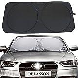 Relanson Jumbo Sun Shade for Car windshield Keeps Vehicle Cool-UV Ray Protector Sunshade(Black, Standard/59