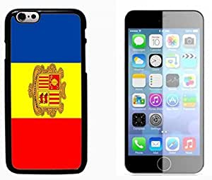 Flag of Andorra Hard Plastic and Aluminum Back Case FOR Apple iPhone 6 6G 4.7 by mcsharks