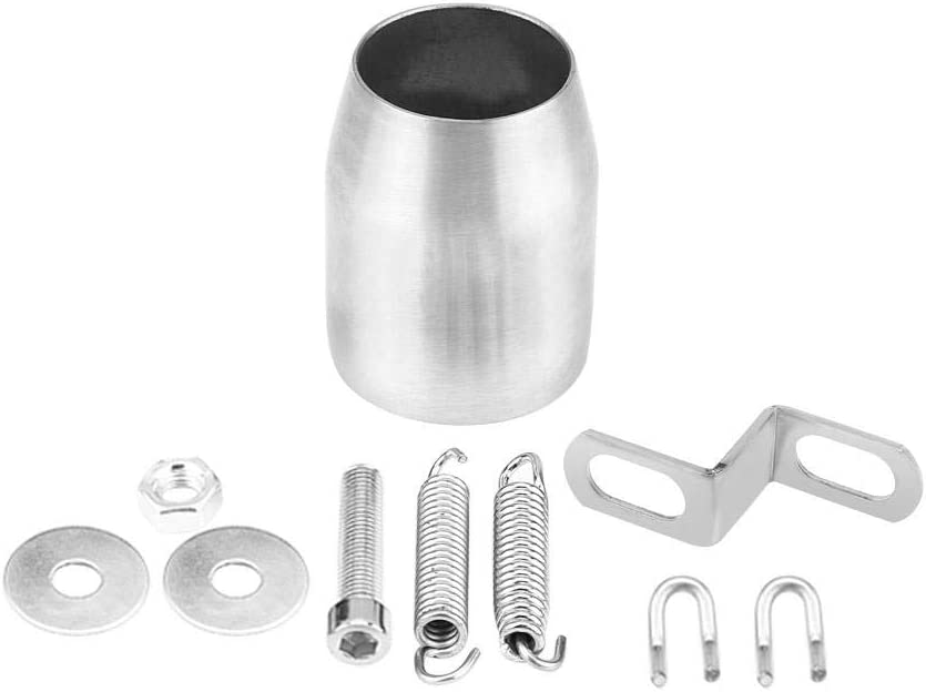 Exhaust Pipe End Tip,51mm Stainless Steel Universal Motorcycle Modified Exhaust Muffler Pipe for Kawasaki Honda Yamaha titanium