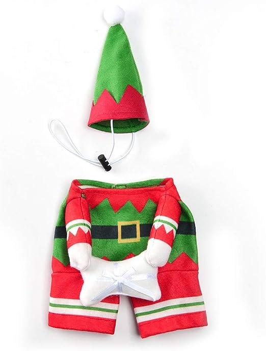 NINGYE Disfraz de Navidad para Mascotas, diseño de Papá Noel y ...
