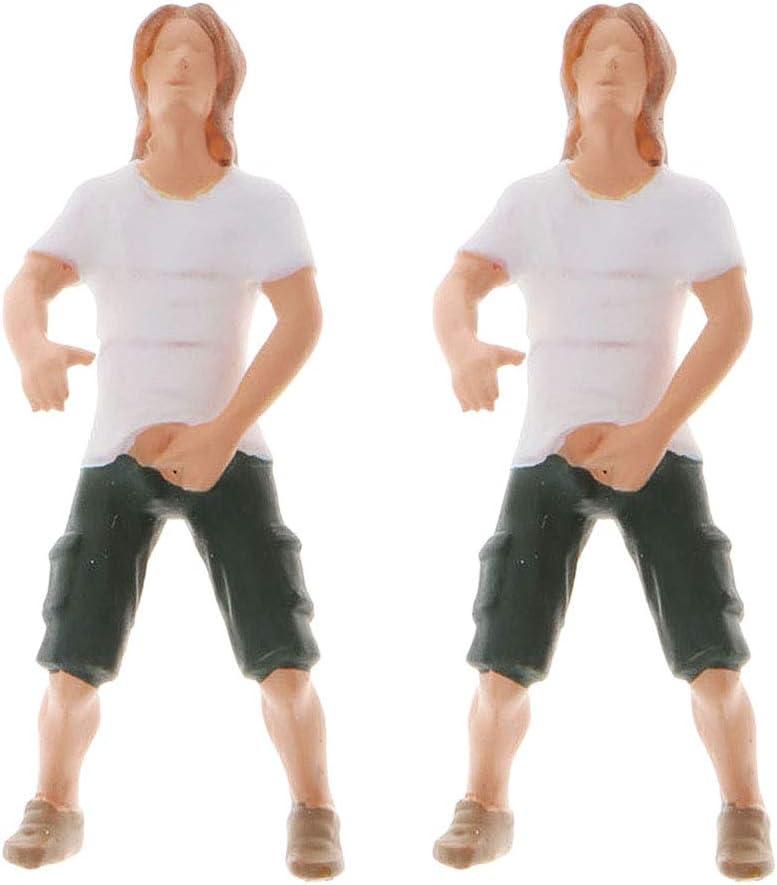 2Stk 1:64 Miniatur Figuren Abbildung Modell Diy Dekor