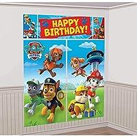 Paw Patrol Scene Setters Kit de decoración de pared, cumpleaños
