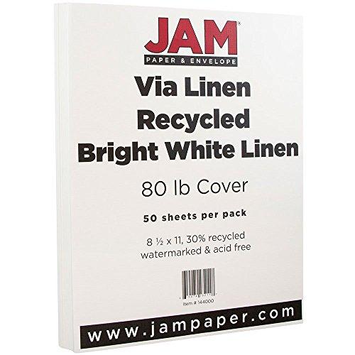 White Linen Cardstock (JAM Paper Strathmore Cardstock - 8.5
