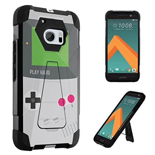 e Transforma Kickstand Bumper Case for HTC 10 / HTC One M10 (Released in 2016) - (Gameboy Grey) ()