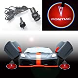 2x For Red GM Pontiac Car Logo Vehicle LED Door step Courtesy welcome Logo Shadow Ghost LED Light Lamp projector