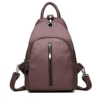 Fanspack Womens PU Leather Backpack Girls Shoulder Bag School Bag Sling  Backpack Purse delicate 8226e5cd7dd98