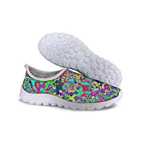 Pour Les Dessins U Graffiti Coloré Maille Légère Des Femmes Marchent Chaussures De Course Multi 1