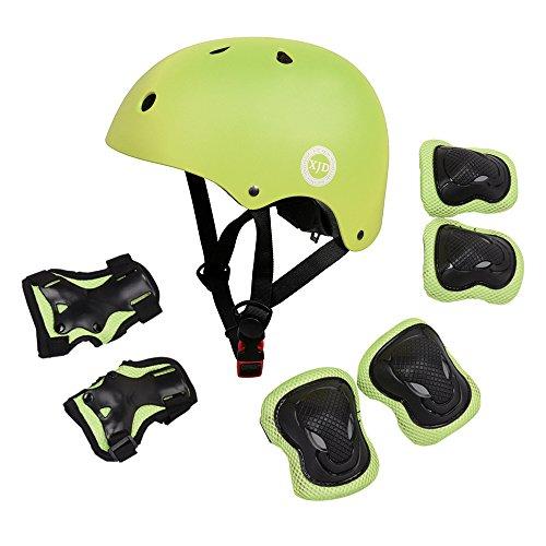 7pcs Child Kids Bike Cycling Bicycle Protective Gear Set Helmet