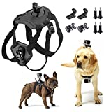 Dog Harness Fetch Adjustable Chest Strap with Official Mount Kit for Sport Action Camera Accessories