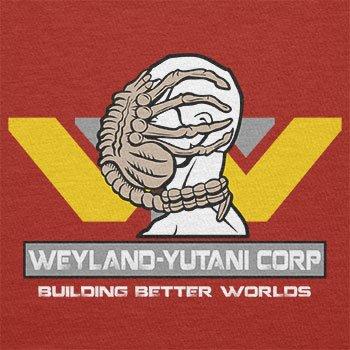 TEXLAB - Weyland Yutani Facehugger - Herren Langarm T-Shirt, Größe XL, rot
